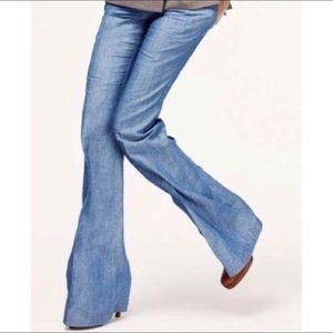 Theory Chambray Trouser - Wide Leg - EUC